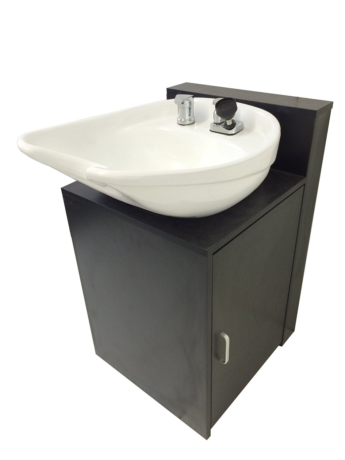 portable shampoo bowl with cabinet