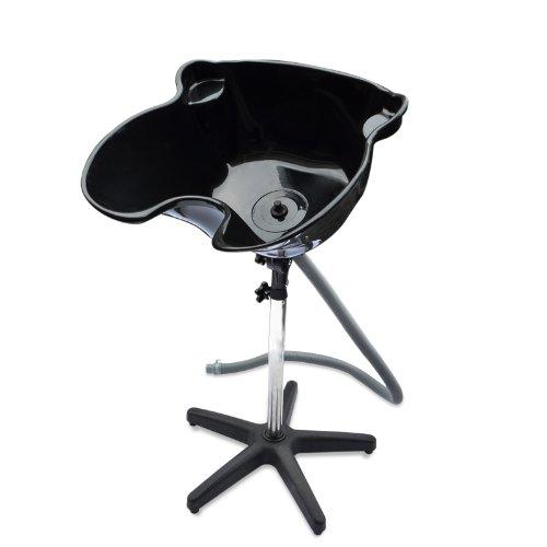 HomeSmith Portable Height Salon Deep Basin Adjustable Hair Wash  Treatment Bowl Shampoo Sink Home or Salon Tool Black