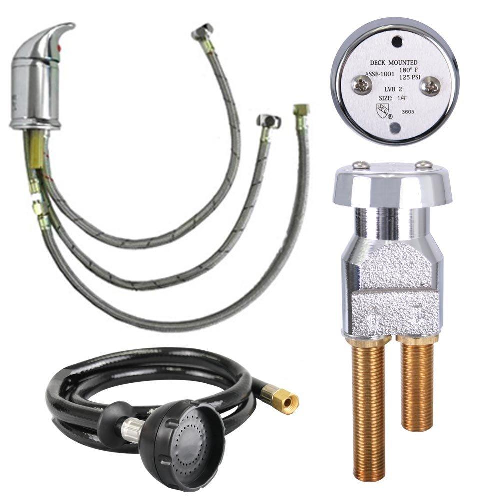 UPC Certified Salon Shampoo Bowl Faucet, Sprayer & Vacuum Breaker SU-94 by Salon CA