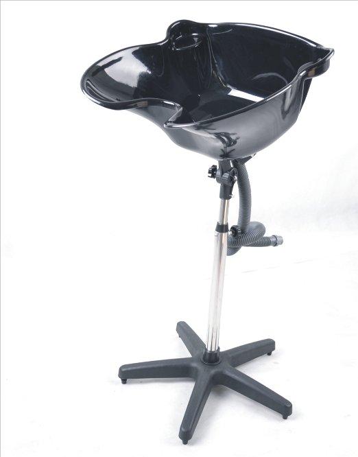 Unique Styling Barber Shampoo Bowl Plastic Adjustable Angle Black Bowl 9037