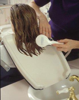 ez shampoo hair washing tray for sink