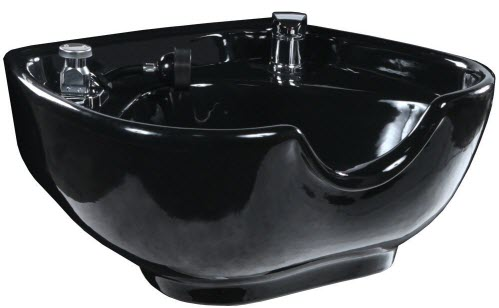 black Porcelain Shampoo Bowl