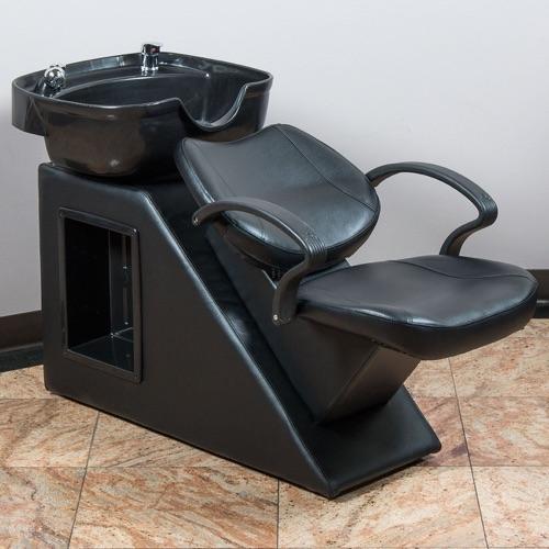BELLAVIE© Salon Backwash Bowl Shampoo Barber Chair Hair Sink Spa Equipment Station Unit, Black