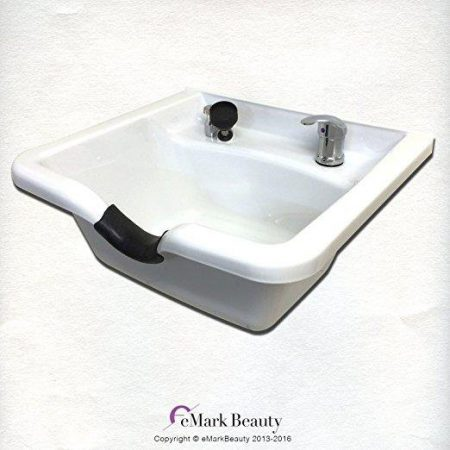 Extra Wide Shampoo Bowl White ABS Plastic TLC-W22