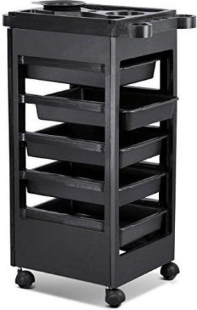 Hair Salon Rolling Trolley Storage Cart W/ 5-Drawers