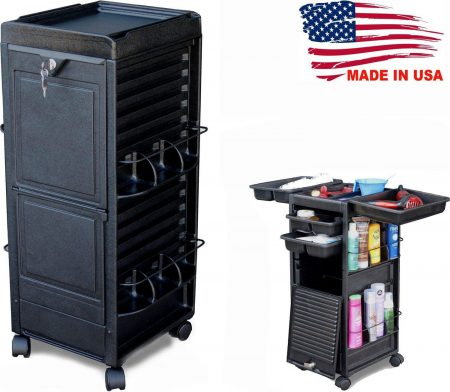 N20-P-KD Salon Roll-about Cart Trolley W/Lockable Door