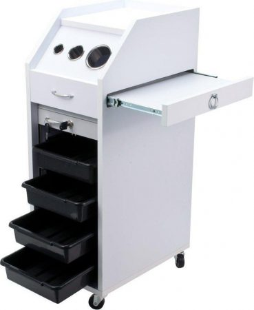 New Salon Trolley Cart HAIR PERM Mobile Equipment WHT