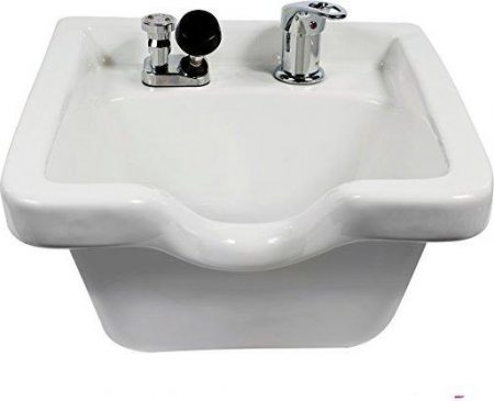 Pro Hair Tools Porcelain Wall Mounted Square Shampoo Bowl
