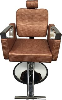 Rose Gold Executive Reclining Hydraulic Salon Barber Chair