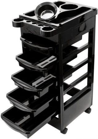 Salon Edge Edge 5 Drawer Beauty Stylist Hair Coloring Trolley