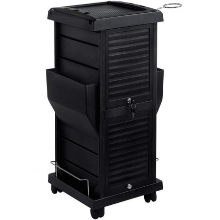 Saloniture Premium Locking Rolling Trolley Cart