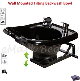 Shampoo Bowl Sink with a Tilt Mechanism