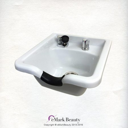White Square CERAMIC Wall Mounted Shampoo Bowl TLC-W41W