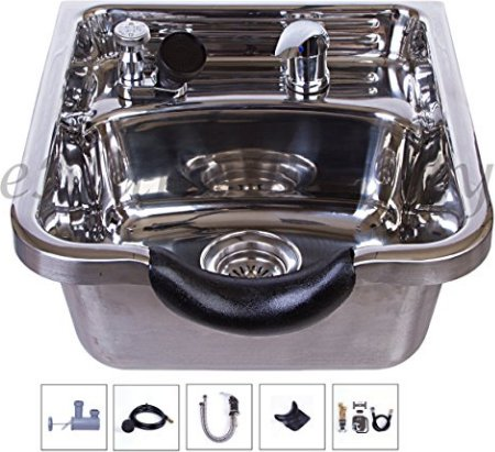Stainless Steel Shampoo Bowl Shampoo Sink TLC-1168
