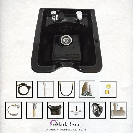 salon shampoo bowl wall mounted