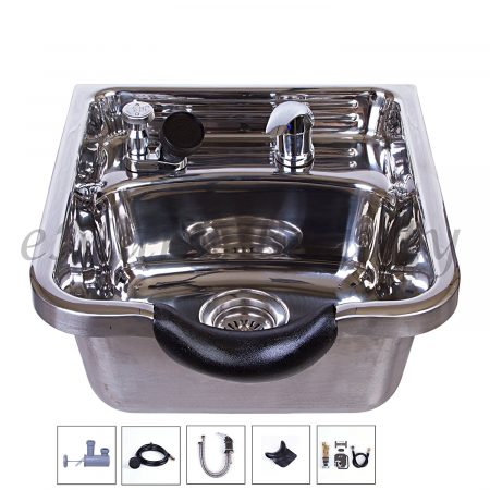 stainless steel wall mounted shampoo bowl