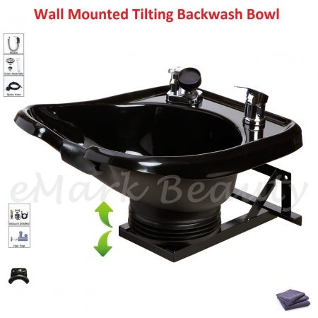 tilting wall mounted shampoo bowl